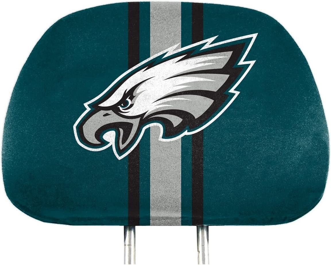62024 FANMATS NFL Philadelphia Eagles Full-Print Head Rest Covers One Size 2-Pack