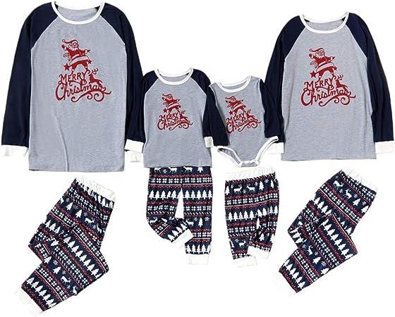 Pijama de Navidad para niños y adultos, diseño con texto en ...
