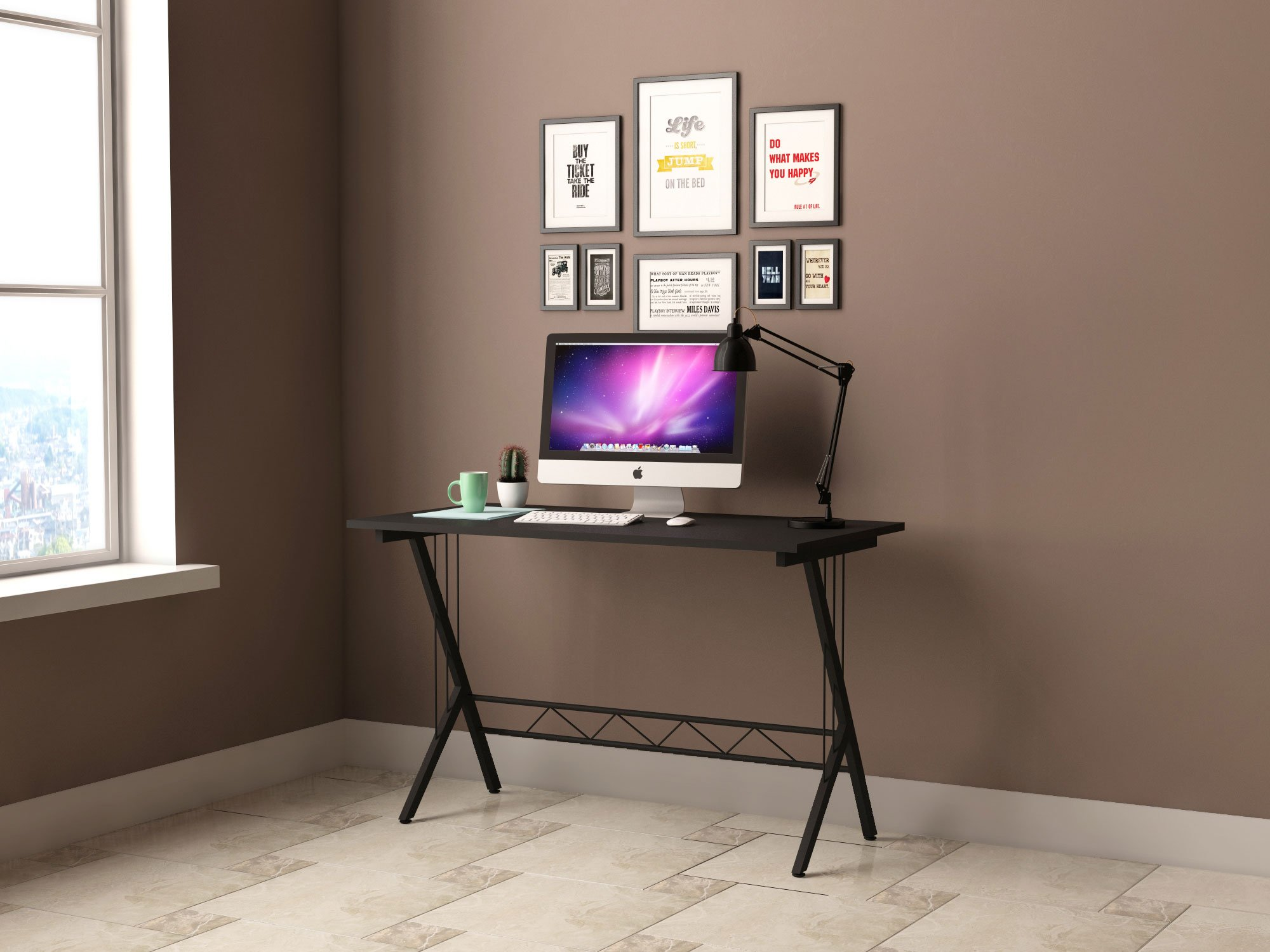 gaming desk table durable workstation for kids room home. Black Bedroom Furniture Sets. Home Design Ideas