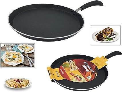 28.5 x Cm Roti TAWA Non Stick Crepe Pan Dosa Pancake Induction Home Kitchen UK