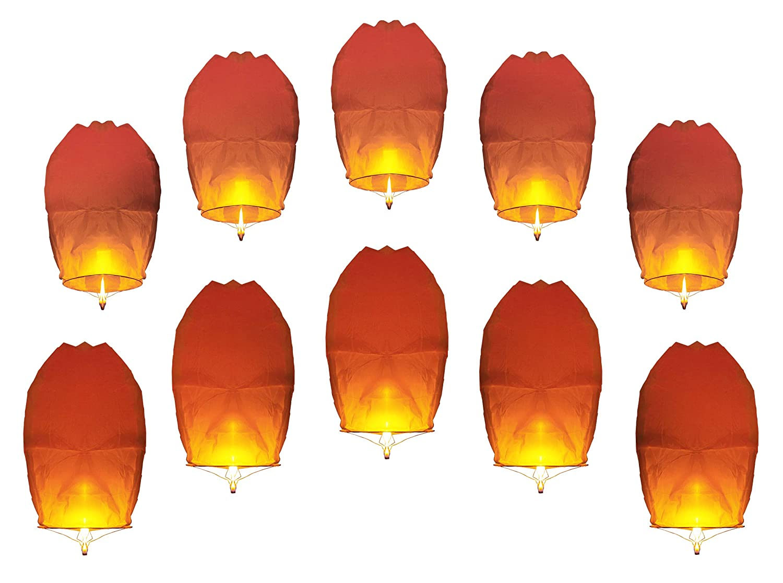 20er Set 80 cm hoch Alsino Himmelslaternen Himmelsballon Skylaternen Hochzeit Garten /& Geburtstag