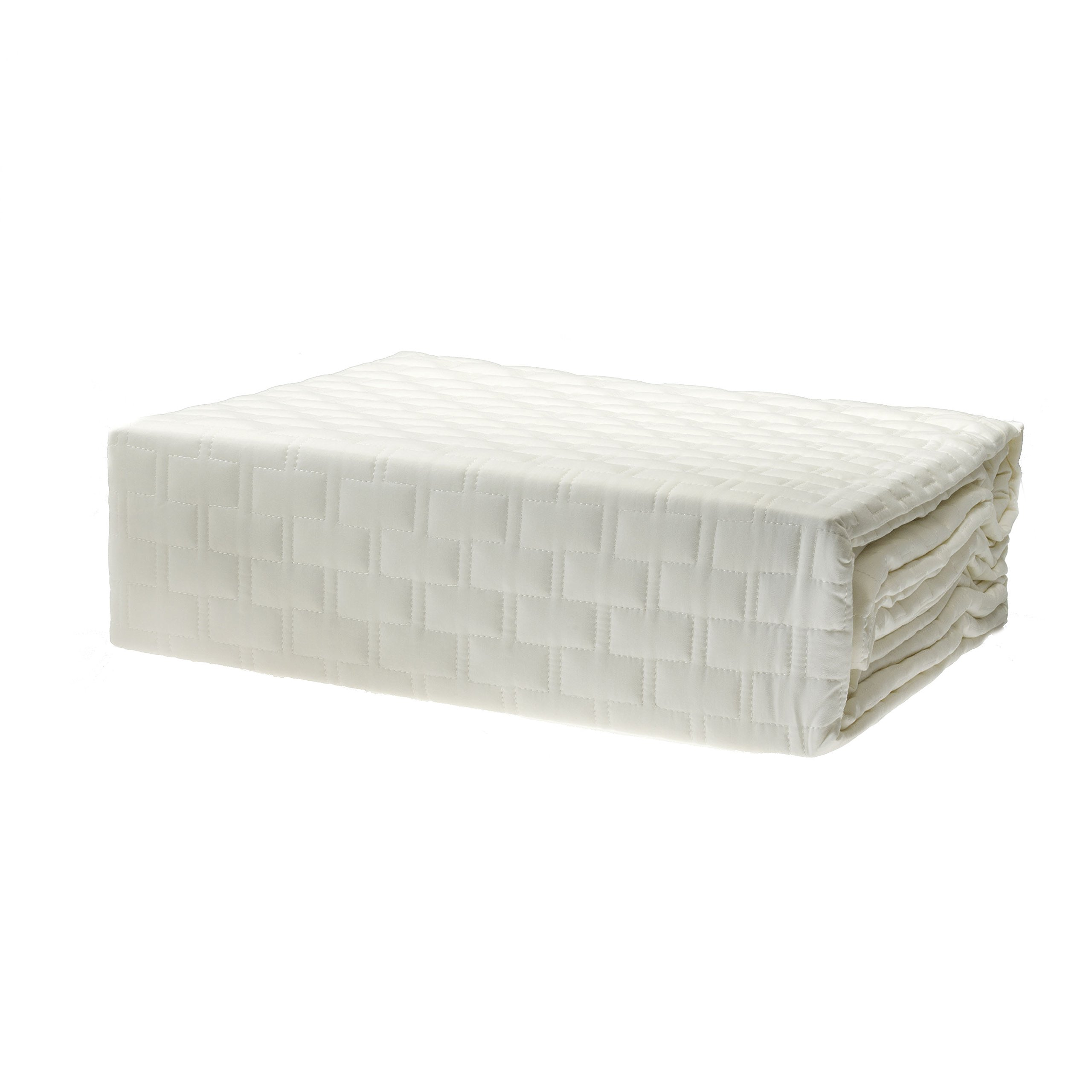BedVoyage Coverlet, White, King by BedVoyage