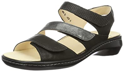 Think Womens Camila Slide Leather Sandals