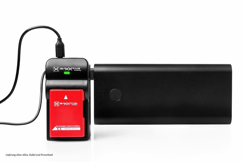 Baxxtar USB Dual Cargador Twin Port 1825 para la bater/ía Nikon EN-EL15 EN-EL15a EN-EL15b