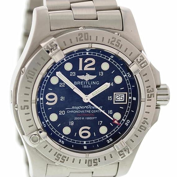 Breitling Reloj Automático De Viento Superocean A17390 para Hombres: Breitling: Amazon.es: Relojes