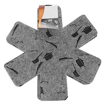 Pan Protectors set de 8, antideslizante del separador de ollas y ...