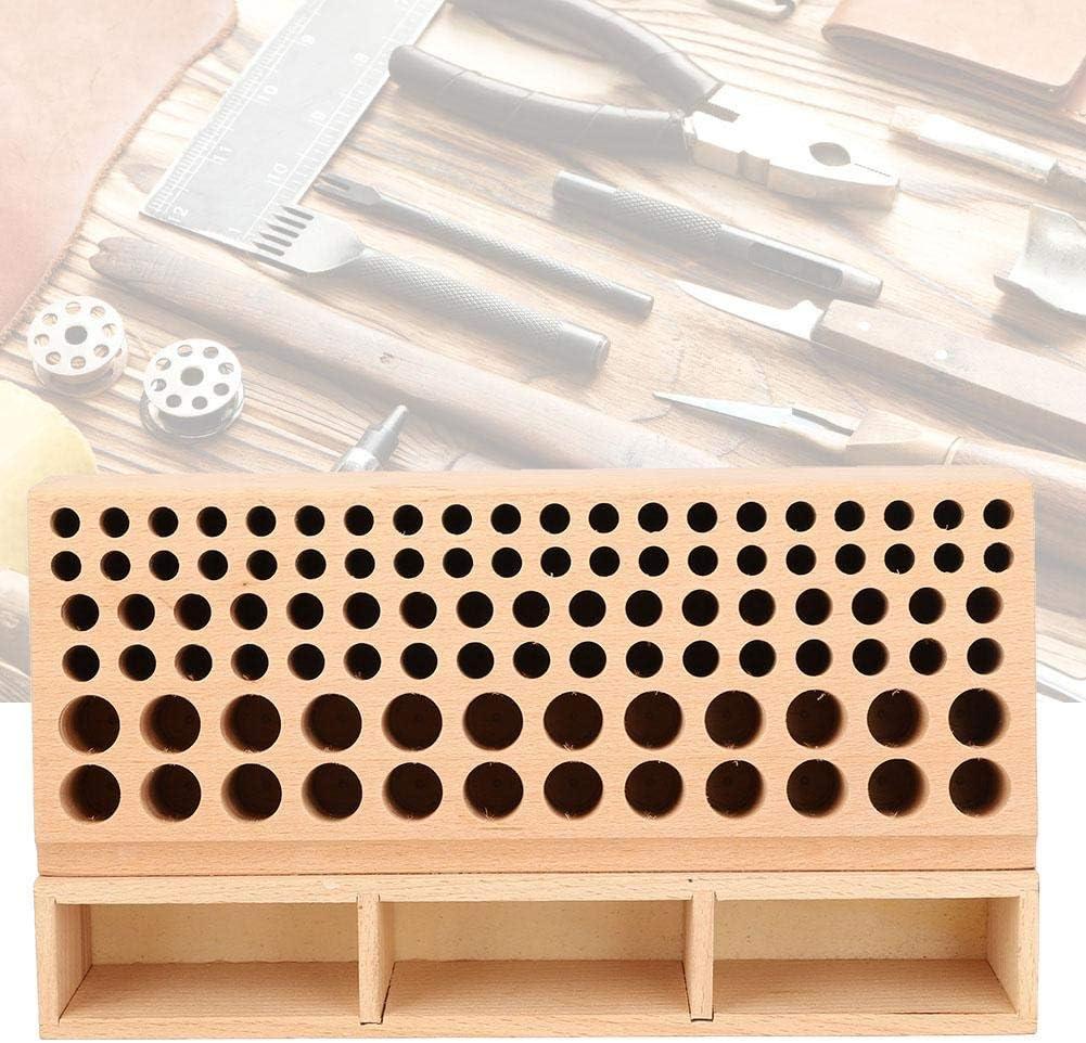 Storage Rack 100 Holes MAGT Rack de Stockage 100 Trous Rack de Stockage en Cuir Craft Tool Holder Box Hand Work Holder Stand Organizer