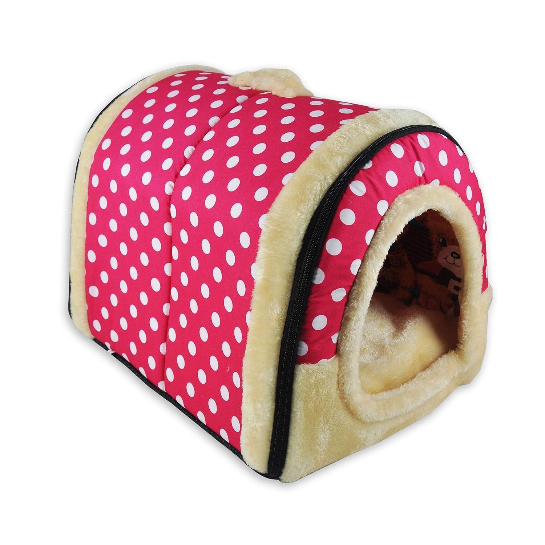 HAPPYX 2 in 1 Cuccia/&Divano per Animali Domestici M, Modello Verde Pieghevole Morbido Comodo Caldo Antiscivolo Letto con Cuscino per Cane Gatto Multicolore 3 Dimensioni
