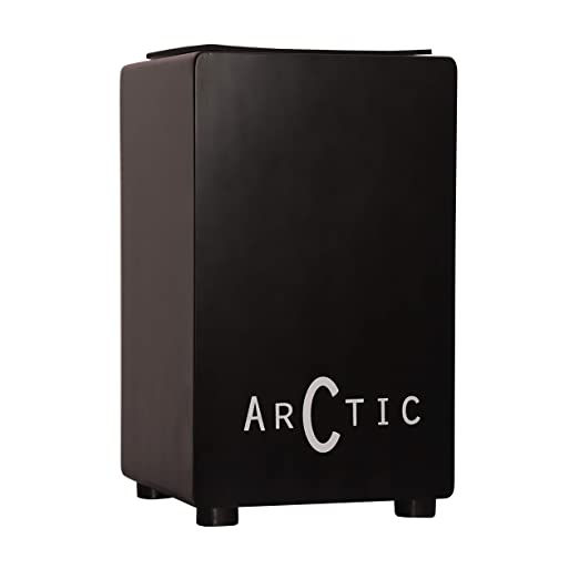 ARCTIC Cajon H 50cm, B 30cm, L 30cm with Built-in Guitar wires or Internal Snares, For adults to young musicians with perfect comfortable size