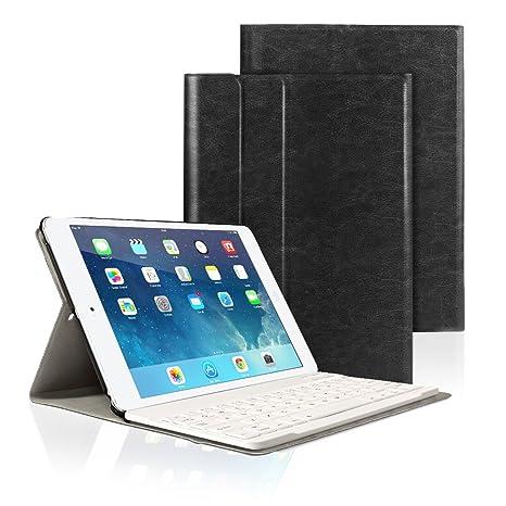 Funda Protectora de Cuero PU con Teclado Bluetooth AZERTY para Apple iPad 2/3/