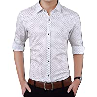 Peppyzone Printed Slim Fit Full Sleeve Formal Shirt for Men
