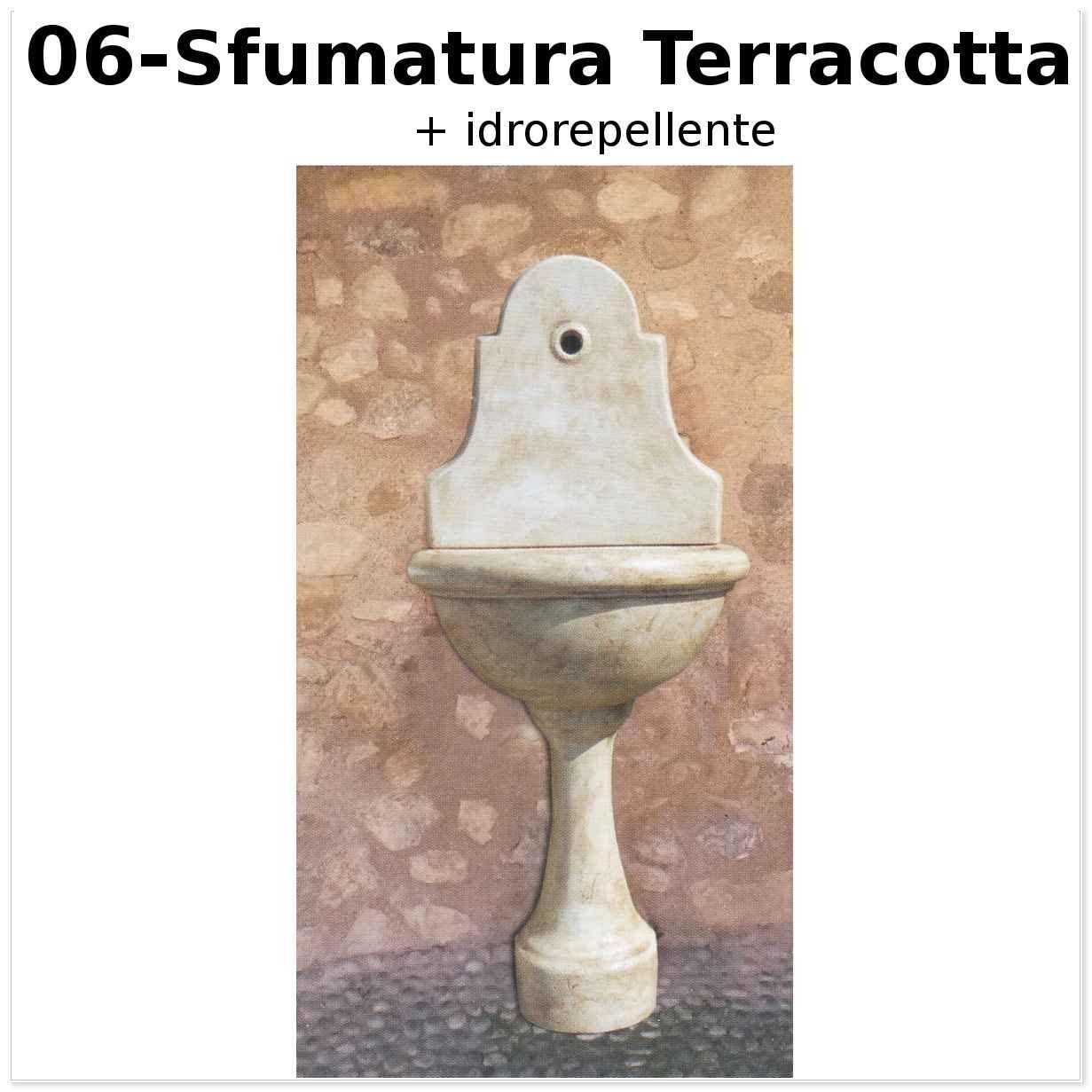 FONTANA A MURO STILE 900 CM53 120H SFUMATURA TERRACOTTA