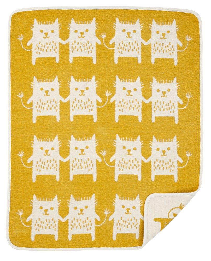 KLIPPAN Klippan Gerhard Neil Cotton mini blanket (Bobcat / yellow) by Klippan