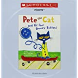Pete the Cat and His Four Groovy Buttons (Paperback book and Audio CD)