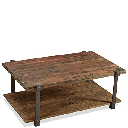 Amazon.com: Riverside Furniture Rectangle Cocktail Table in ...