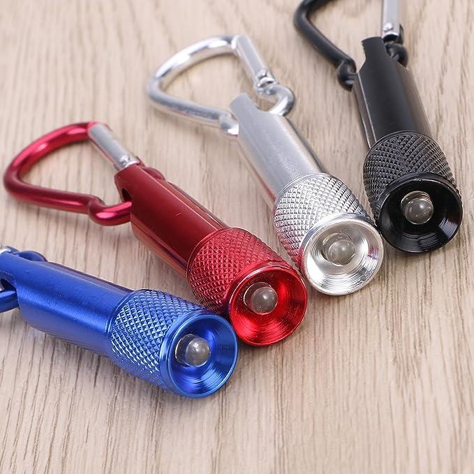 Climbing Button Carabiner Key Ring Light Aluminum Alloy Mini Small Flashlight