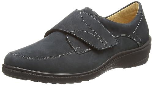 Ganter Sensitiv Helga, Weite H - Zapatos con Cordones de Cuero Mujer, Color Azul, Talla 43