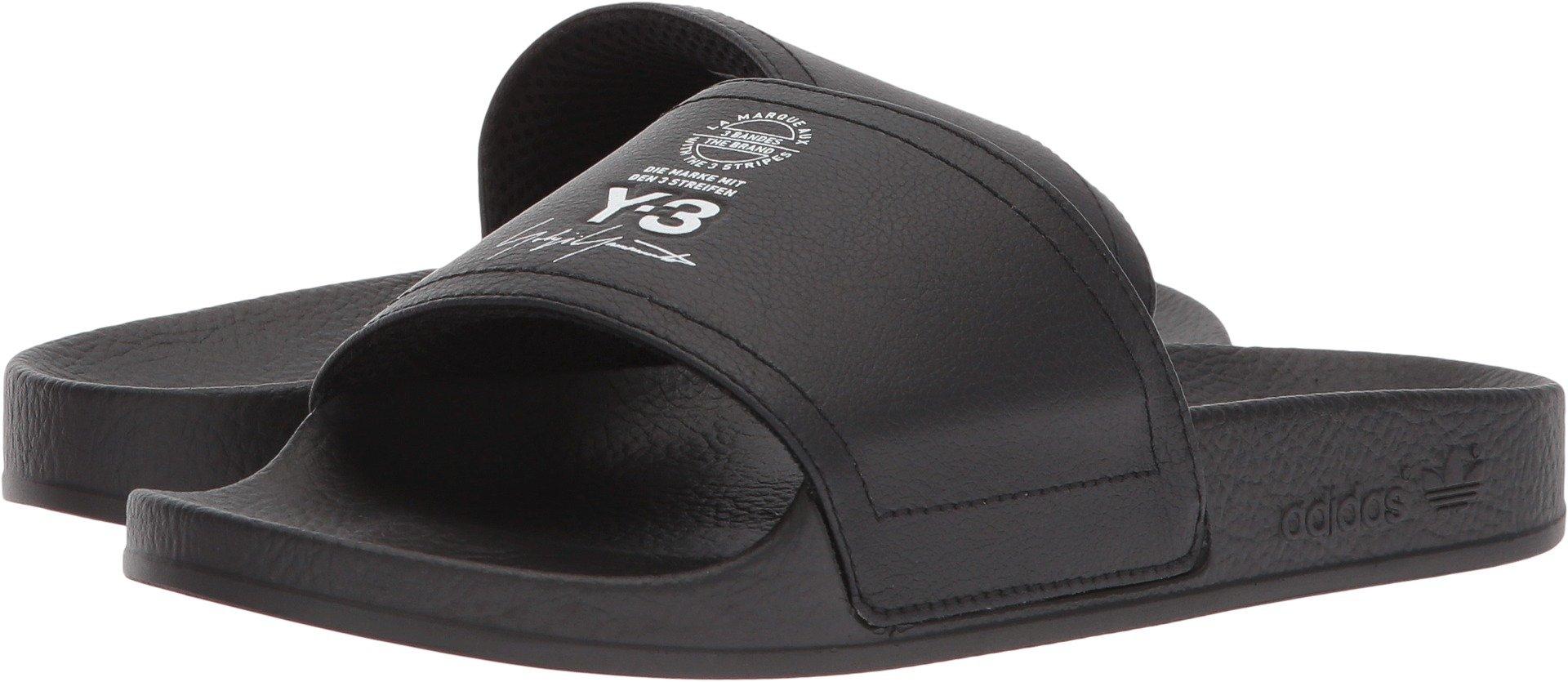 adidas Y-3 by Yohji Yamamoto Unisex Adilette Core Black/Footwear White/Core Black 11 M UK by adidas Y-3 by Yohji Yamamoto