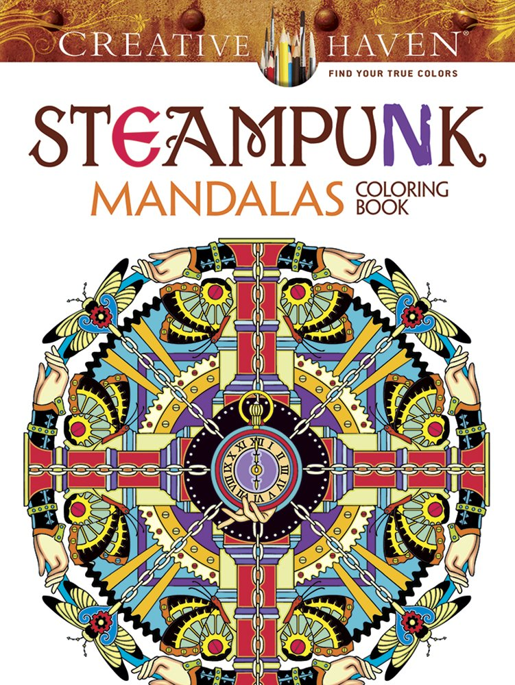 Amazoncom Creative Haven Steampunk Mandalas Coloring Book Adult