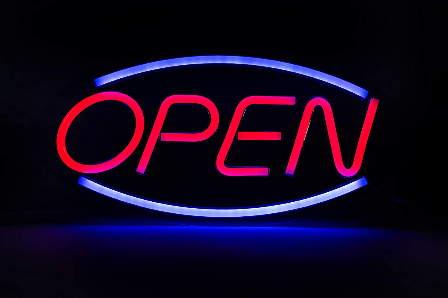 NEON Open Sign, New Neon Sign for Business, Home, and Office Decor, with UL Power Adapter, LED Open Sign, Medium Size 18 x 9 inch. Easy Use Plug in to Start, Open Sign - by TYGER INC 2020