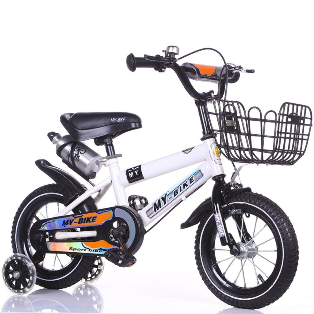 QFF オフロード自転車、男の子、女の子自転車安全な子供時代の自転車2-10歳の赤ちゃんの補助ホイール自転車88-121CM ZRJ 100CM 白 B07D38BXBV