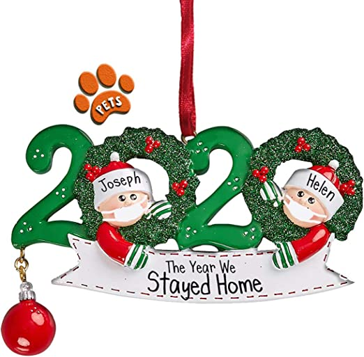 Christmas Ornaments 2020 Amazon.com: 2020 Quarantine Couple with Hanging Ornament   2
