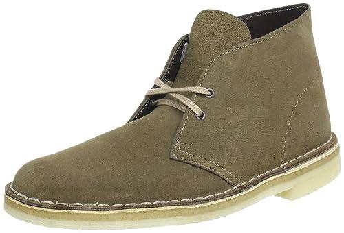 365ab44cb128 Clarks Desert Boot Desert Boots Mens Green Grün (Pale Green) Size  7 ...