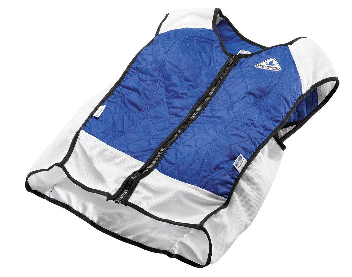 TechKewl Hybrid Cooling Vest, Blue, X-Small