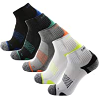 iStyleHome 5 Pairs Athletic Running Socks Half Cushioned Terry Socks for Mens Sneaker & Sports Socks for Running, Athletic, Hiking, Cycling