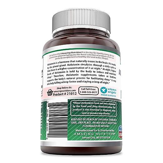 Amazon.com: Amazing Formulas Melatonina – Tabletas de 10 mg ...