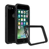 RhinoShield Coque pour iPhone 8 Plus / iPhone 7 Plus [Bumper CrashGuard] | Housse fine avec technologie absorption des chocs - Compatible recharge induction [Résiste aux chutes de plus de 3,5 mètres] - Noir