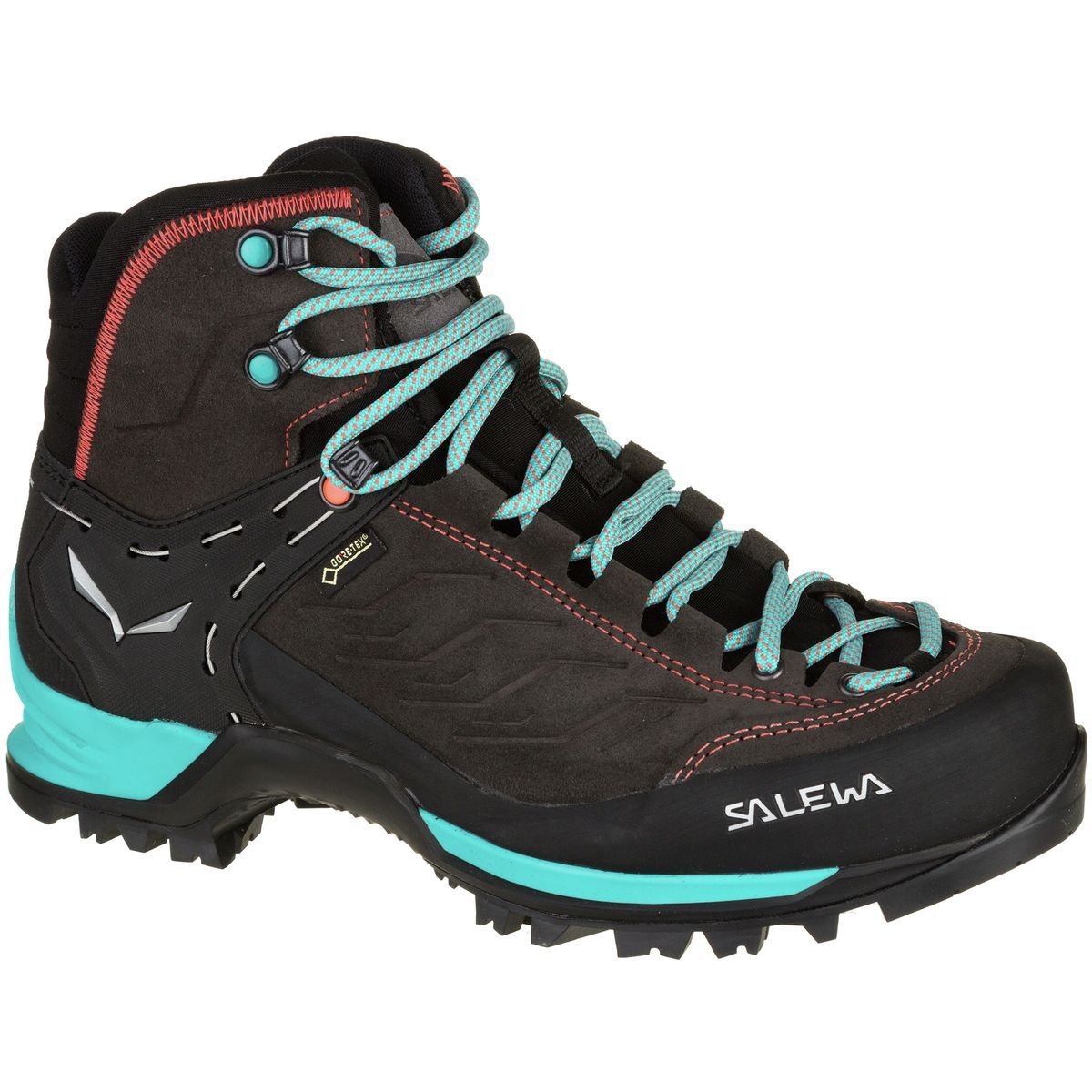 Salewa Women's Mtn Trainer Mid GTX-W Mountaineering Boot, Magnet/Viridian Green, 6.5 D US by Salewa