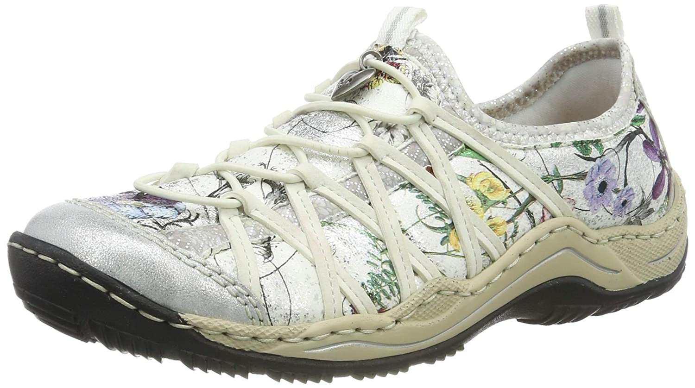 Rieker Womens Ice Multi Metallic Floral Slip On Trainer Shoe