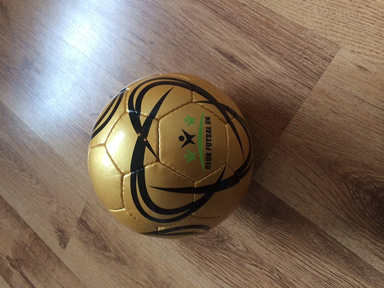ClubFutsalUK Ballon de Futsal Taille 3 Size 3gold