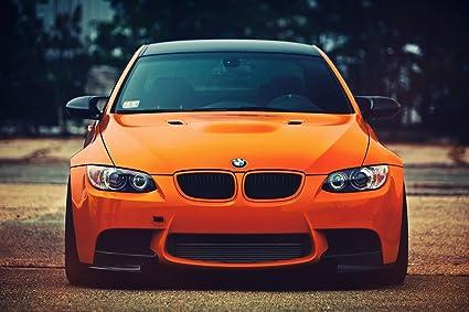 Bmw M3 3 Series Orange Car Poster 24x36