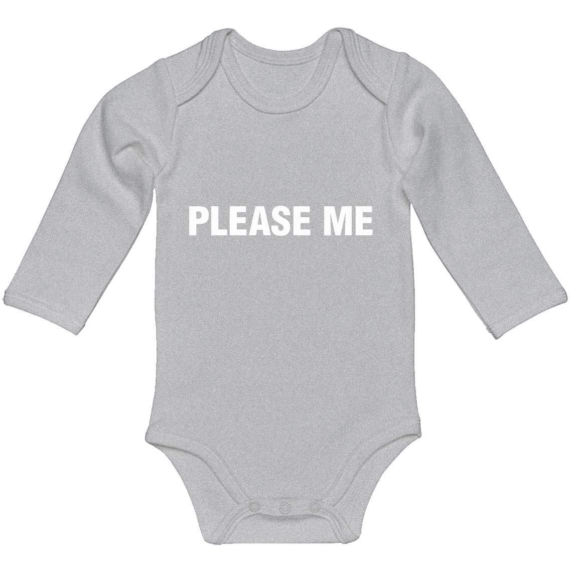 100/% Cotton Long Sleeve Infant Bodysuit Indica Plateau Baby Romper Please Me