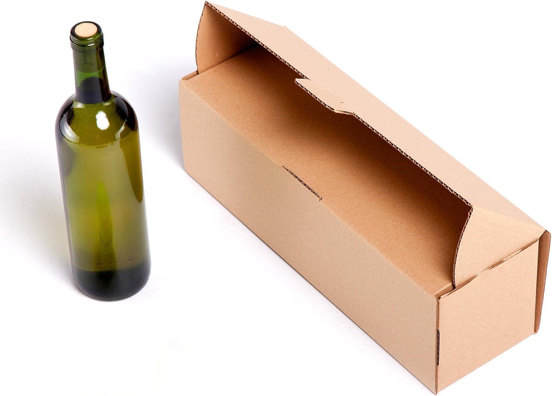 25x) Caja para 1 Botella de cartón automontable y envíos postales TCPOBOX (D (38 x 12 x 12 cms) (LOTE DE 25 UNIDADES): Amazon.es: Oficina y papelería