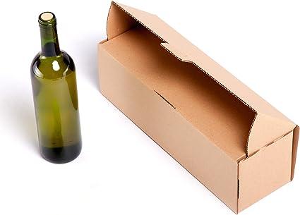 25x) Caja para 1 Botella de cartón automontable y envíos postales ...