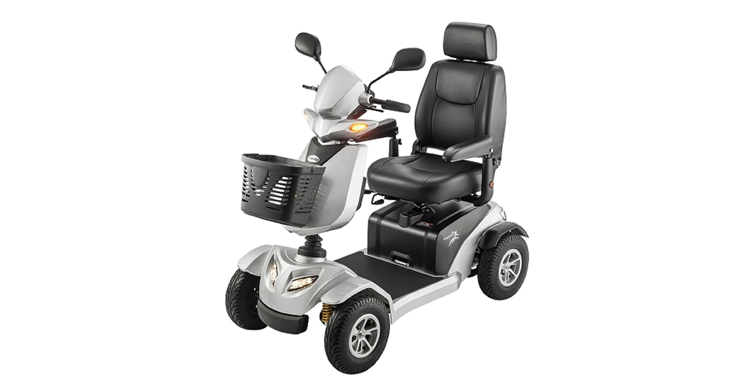 Merits Health Products - Silverado - 4-Wheel Full Suspension Electric Scooter - 18''W x 17''D - Silver