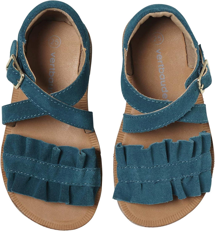 Sandales en cuir fille collection maternelle émeraude
