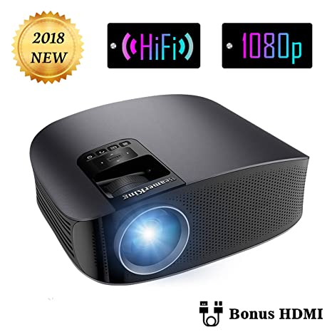 Projector Video Movie Home Theater 3500 lumens 1280x800 Native Resolution Support 1080P LED Projector for iPhone Laptop Andriod Smartphone PS4 Xbox TV ...