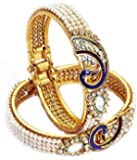 JDX Gold Plated Bangles Set for Women and Girls_Adjustable