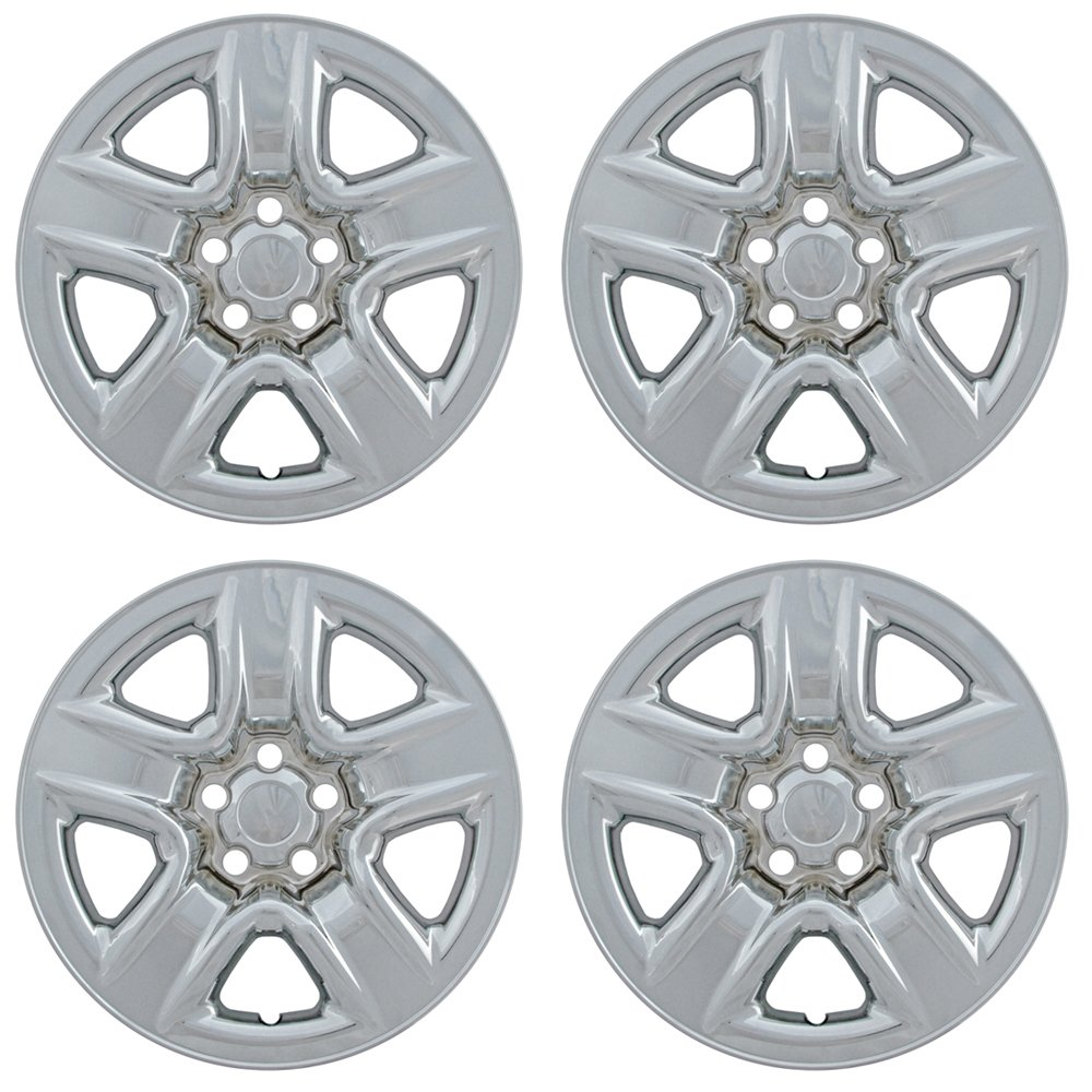 OxGord 17 inch Hubcap Wheel Skins for 2006-2012 Toyota Rav-(Set of 4) Wheel Covers- Car Accessories for 17inch Chrome Wheels- Auto Tire Replacement Exterior Cap Cover by OxGord