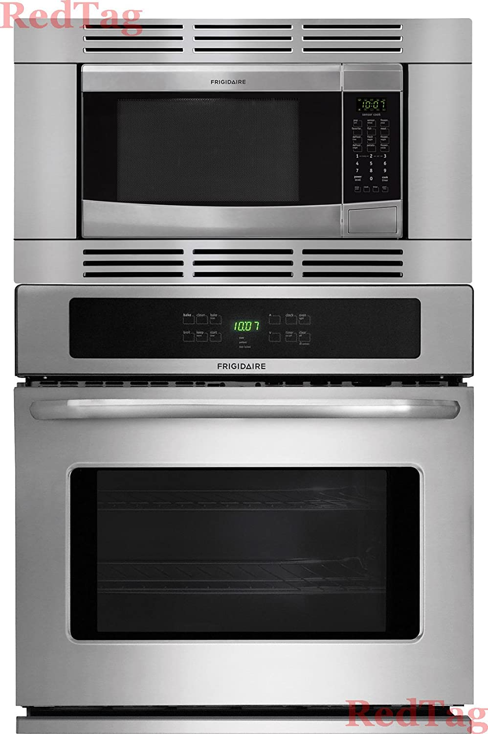 "Frigidaire Stainless Steel 27"" 3Piece Wall Oven Microwave Combo FFEW2725PS FFMO1611LS FFMOTK27LS"