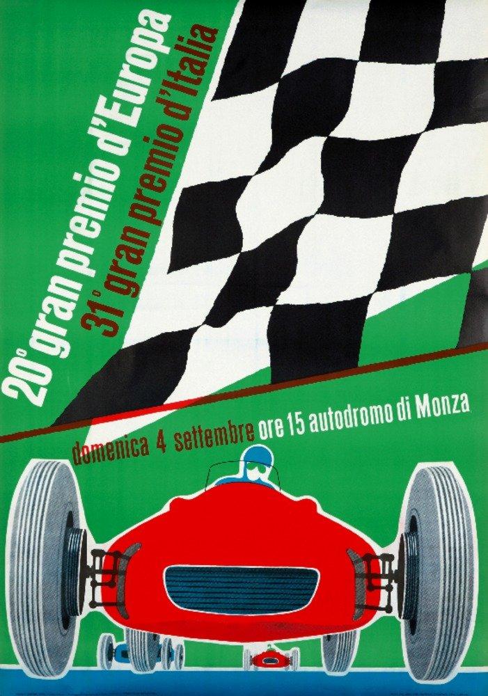Gran Premio d 'europaヴィンテージポスター(アーティスト:匿名)イタリアC。1960 36 x 54 Giclee Print LANT-72872-36x54 36 x 54 Giclee Print  B01MQ06NDT