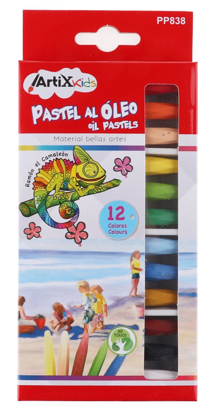 ARTIX Kids pp838 – Pastelli a olio, Multicolore Madrid Papel Import