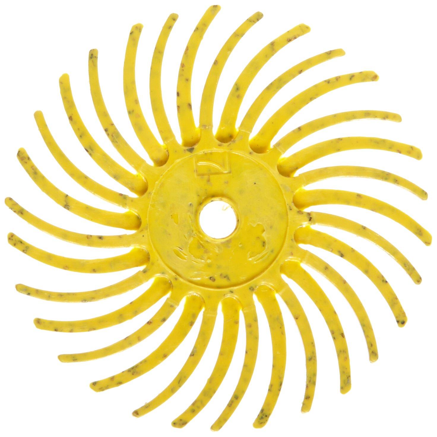 Scotch-Brite Radial Bristle Disc, 3/4 in x 1/16 in 80, 192 per case