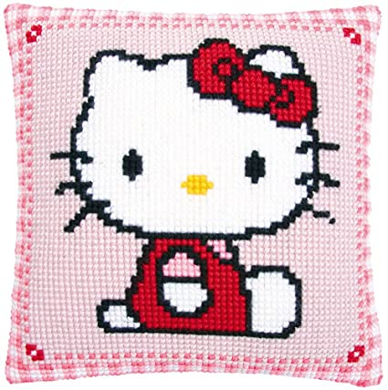 Amazon.com: Vervaco Hello Kitty Chunky Cross Stitch Cushion Kit