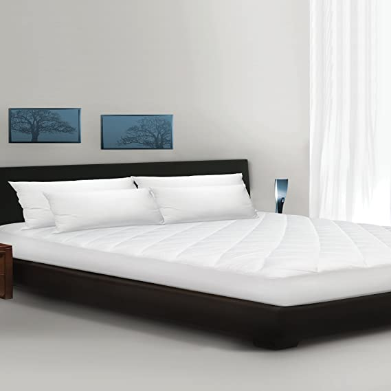 Soft-Tex Palmas Coolmax Lujo 300 Hilos Diamond, Almohadilla de colchón Acolchado, Color Blanco, Blanco, Matrimonio Doble: Amazon.es: Hogar