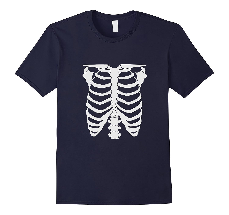 Skeleton Glow In The Dark halloween t shirt-FL